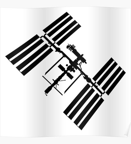 ISS (International Space Station) Silhouette Poster