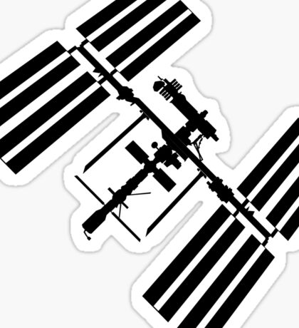 ISS (International Space Station) Silhouette Sticker