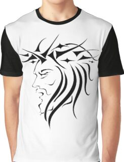 Jesus Wearing Thorn Crown Graphic T-Shirt