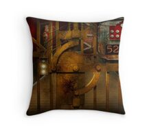 Steampunk - Dystopia - The Vault Throw Pillow
