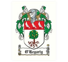 O'Hegarty Coat of Arms (Donegal) Art Print