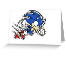 Sonic the Hedgehog Greeting Card
