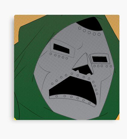Dr. Doom Halftone Canvas Print