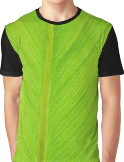 bright green fresh leaf closeup background vertical Graphic T-Shirt