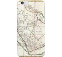 Vintage Map of Saudi Arabia (1771) iPhone Case/Skin