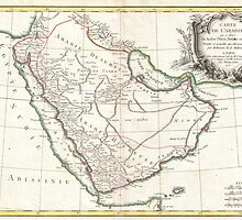 Vintage Map of Saudi Arabia (1771) by BravuraMedia