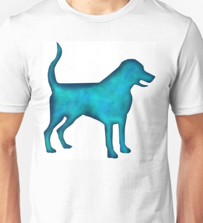 Labrado Retriever Watercolor Silhouette Unisex T-Shirt