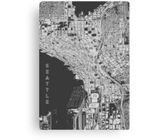 Seattle, Wireframe Canvas Print