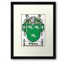 O'Heron Coat of Arms (Cork) Framed Print