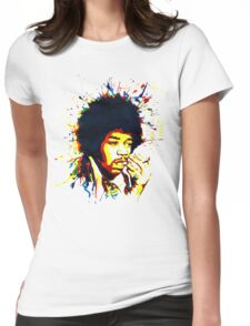jimi colorful Womens Fitted T-Shirt