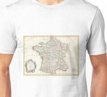 Vintage Map of France (1771)  Unisex T-Shirt