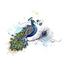Blue Paisley Peacock by © Karin Taylor