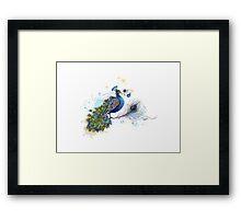 Blue Paisley Peacock Framed Print