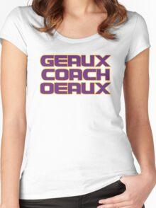 Geaux Coach Oeaux - LSU Tigers Fan Shirt Women's Fitted Scoop T-Shirt