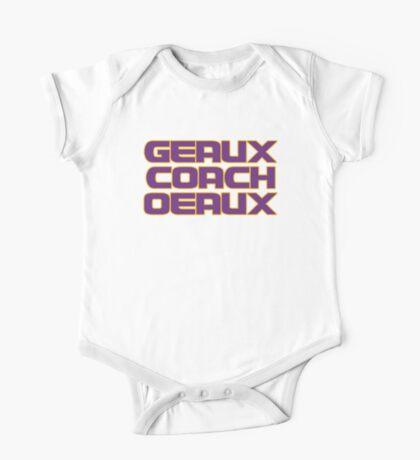Geaux Coach Oeaux - LSU Tigers Fan Shirt One Piece - Short Sleeve