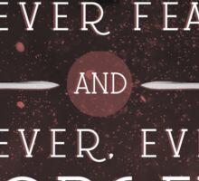 Nevernight - Never Forget Sticker