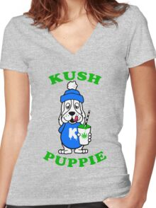 Kush Puppy Women's Fitted V-Neck T-Shirt