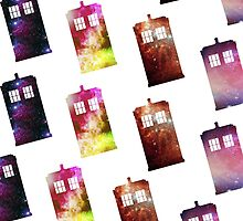 GALAXY TARDIS PATTERN: PILLOWS & TABLETS by chuurity