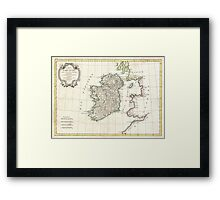 Vintage Map of Ireland (1771) Framed Print