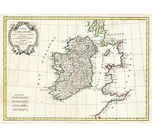 Vintage Map of Ireland (1771) Photographic Print