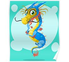Colorful Dragon Poster