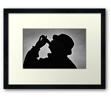 Silhouette of Sioux Framed Print