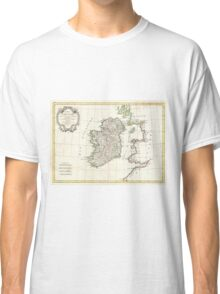 Vintage Map of Ireland (1771) Classic T-Shirt