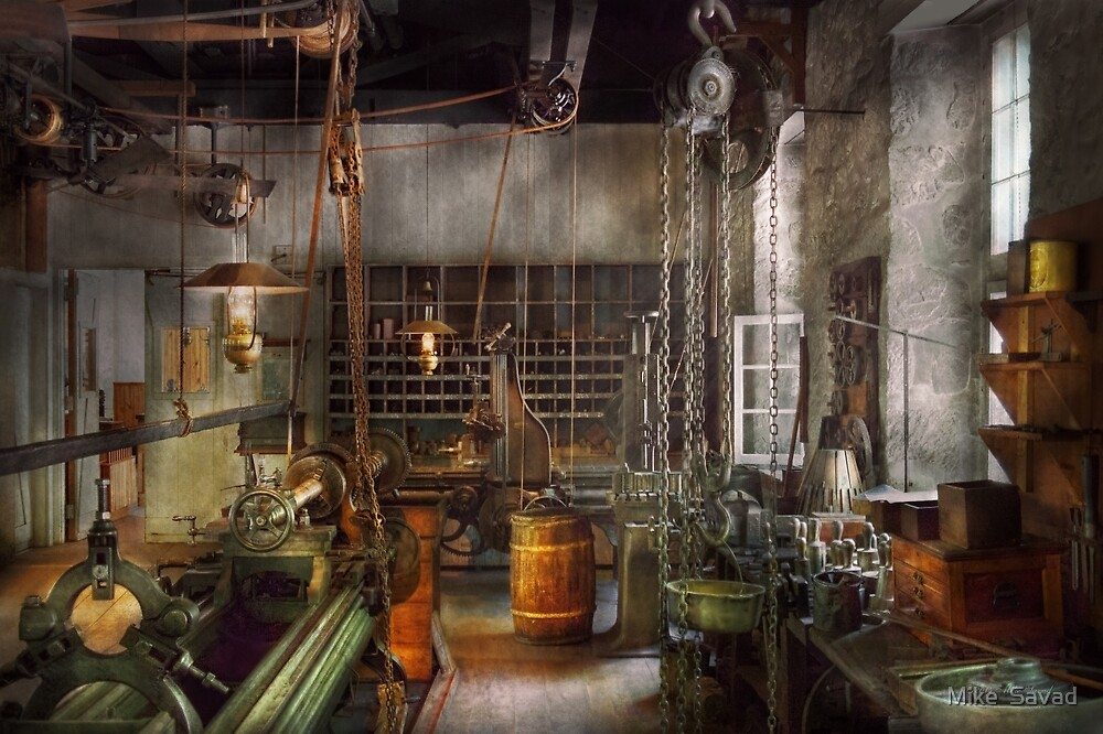 Machinist - Lathes - Machinists paradise by Mike  Savad