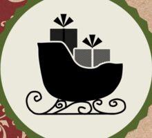 Elegant Rustic Merry Christmas Sticker