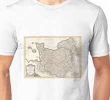 Vintage Map of Normandy (1771)  Unisex T-Shirt