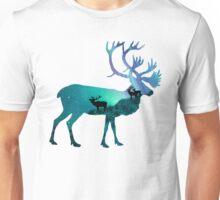 Northern Lights Elk Unisex T-Shirt