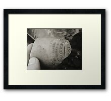 Old pottery by the river Framed Print