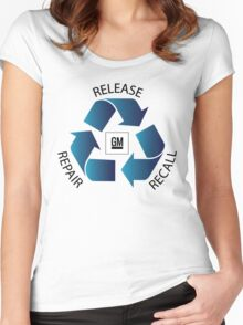 GM Recall and Repair Logo Parody Women's Fitted Scoop T-Shirt