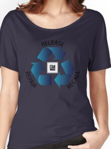 GM Recall and Repair Logo Parody Women's Relaxed Fit T-Shirt