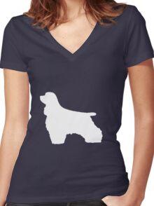 Cocker Spaniel | Dogs Women's Fitted V-Neck T-Shirt