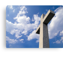 White Stone Cross Canvas Print