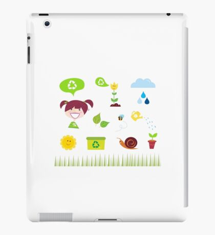 Agriculture, garden and nature icons isolated on white background iPad Case/Skin