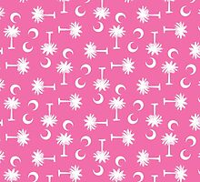 Palmetto Moon Pattern Pink by Carolina Swagger