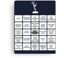 Emmy Awards Show Bingo Canvas Print