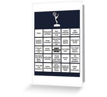 Emmy Awards Show Bingo Greeting Card