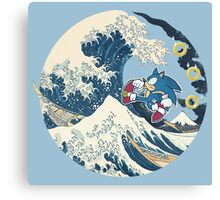 Sonic the Hedgehog - Hokusai Canvas Print