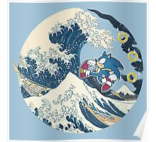 Sonic the Hedgehog - Hokusai Poster