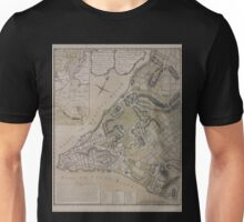 443 Plan of New York City of New York and its environs to Greenwich Town Survey'd in the winter 1775 Unisex T-Shirt