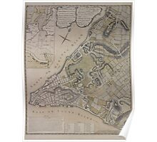 443 Plan of New York City of New York and its environs to Greenwich Town Survey'd in the winter 1775 Poster