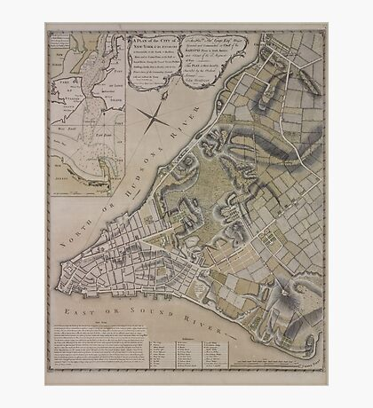 443 Plan of New York City of New York and its environs to Greenwich Town Survey'd in the winter 1775 Photographic Print