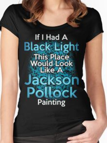 If I had a Black Light... Women's Fitted Scoop T-Shirt