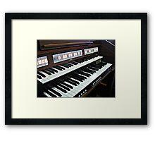Heavenly Music - Organ Keyboard Framed Print