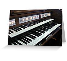 Heavenly Music - Organ Keyboard Greeting Card