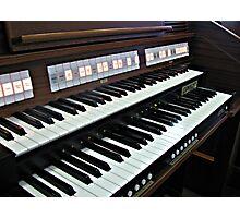 Heavenly Music - Organ Keyboard Photographic Print