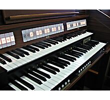 Heavenly Music - Organ Keyboard Photographic Print